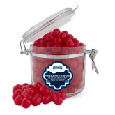 Sweet & Sour Cherry Surprise Round Canister-Saint Peters Peacock Nation Banner