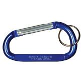 Blue Carabiner with Split Ring-Saint Peters University Engraved