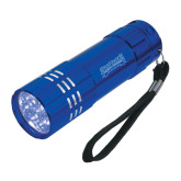 Industrial Triple LED Blue Flashlight-Saint Peters Peacocks Engraved