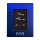 Royal Brushed Aluminum 3 x 5 Photo Frame-Saint Peters Peacocks Engraved