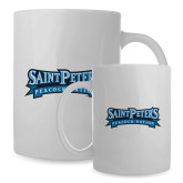 Full Color White Mug 15oz-Saint Peters Peacock Nation Banner