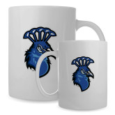 Full Color White Mug 15oz-Peacock
