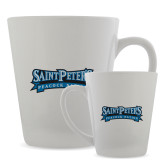 Full Color Latte Mug 12oz-Saint Peters Peacock Nation Banner