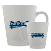 Full Color Latte Mug 12oz-Saint Peters Peacock Nation Banner