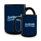 Full Color Black Mug 15oz-Saint Peters Peacock Nation Banner