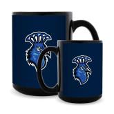 Full Color Black Mug 15oz-Peacock