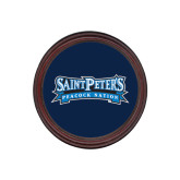 Round Coaster Frame w/Insert-Saint Peters Peacock Nation Banner