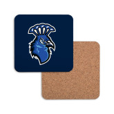 Hardboard Coaster w/Cork Backing-Peacock