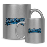 Full Color Silver Metallic Mug 11oz-Saint Peters Peacock Nation Banner