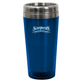 Solano Acrylic Blue Tumbler 16oz-Saint Peters Peacock Nation Banner