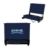Stadium Chair Navy-Saint Peters Peacock Nation Banner