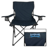 Deluxe Navy Captains Chair-Saint Peters Peacock Nation Banner