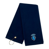 Navy Golf Towel-Peacock