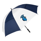 62 Inch Navy/White Umbrella-Peacock