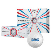 Callaway Supersoft Golf Balls 12/pkg-Saint Peters Peacock Nation Banner