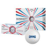 Callaway Supersoft Golf Balls 12/pkg-Saint Peters Peacock Nation Banner