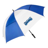62 Inch Royal/White Umbrella-Saint Peters Peacock Nation Banner