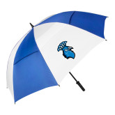 62 Inch Royal/White Umbrella-Peacock
