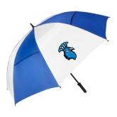 62 Inch Royal/White Umbrella-Peacock