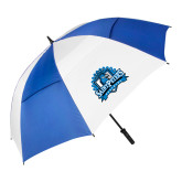 62 Inch Royal/White Umbrella-Official Logo