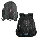 Wenger Swiss Army Mega Black Compu Backpack-Saint Peters Peacock Nation Banner