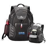 High Sierra Big Wig Black Compu Backpack-Saint Peters Peacock Nation Banner