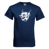 Navy T Shirt-Bobcat Head