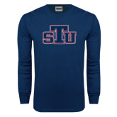 Navy Long Sleeve T Shirt-STU