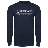 Navy Long Sleeve T Shirt-School of Law