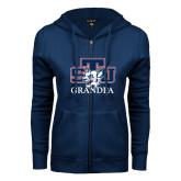 ENZA Ladies Navy Fleece Full Zip Hoodie-Grandpa