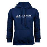 Navy Fleece Hoodie-University Mark
