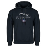 Navy Fleece Hoodie-Baseball Seams Design