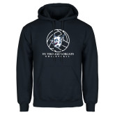 Navy Fleece Hoodie-Volleyball Ball Design