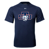 Under Armour Navy Tech Tee-STU w/ Bobcat Head