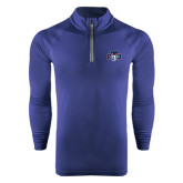 Under Armour Navy Tech 1/4 Zip Performance Shirt-STU w/ Bobcat Head