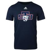 Adidas Navy Logo T Shirt-STU w/ Bobcat Head