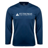 Performance Navy Longsleeve Shirt-University Mark
