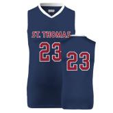 Replica Navy Adult Basketball Jersey-#23