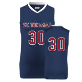 Replica Navy Adult Basketball Jersey-#30