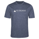 Performance Navy Heather Contender Tee-University Mark