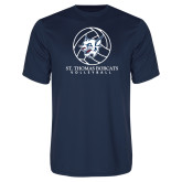 Performance Navy Tee-Volleyball Ball Design