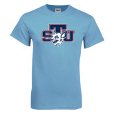 Light Blue T Shirt-STU w/ Bobcat Head