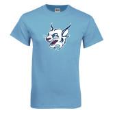 Light Blue T-Shirt-Bobcat Head