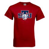 Cardinal T Shirt-STU w/ Bobcat Head