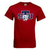 Cardinal T Shirt-STU w/ Bobcat Head Distressed
