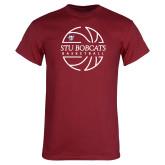 Cardinal T Shirt-Basketball Ball Design