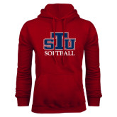 Cardinal Fleece Hoodie-Softball