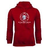 Cardinal Fleece Hoodie-Volleyball Ball Design