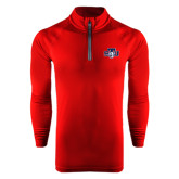 Under Armour Cardinal Tech 1/4 Zip Performance Shirt-STU w/ Bobcat Head