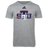 Adidas Sport Grey Logo T Shirt-STU w/ Bobcat Head